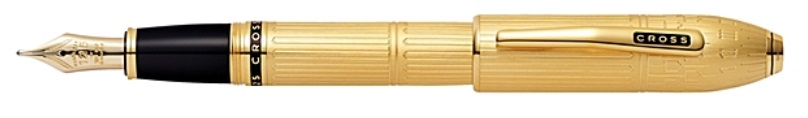 Cross Peerless Special Edition London's Big Ben 23k Heavy Gold Plate Fountain Pen