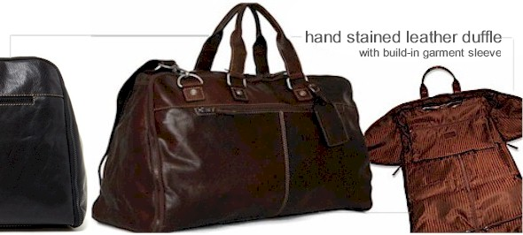 Jack Georges Leather Duffle Bag