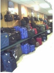 An endless display of luggage......